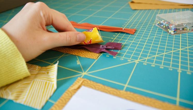tuto tutorial tutoriel pochette trousse fermeture éclair zip double zip double poches